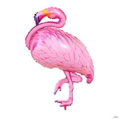 №075 Фигура с гелием. Фламинго. 128 см*80 см.