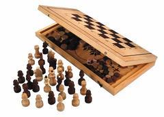 "Игра 2 в 1 ""Шахматы, нарды"" арт.Шк-2-С-11а (400*210*35)"
