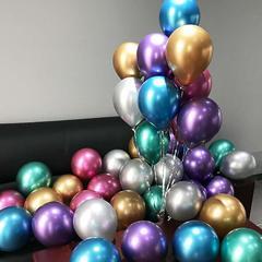 """Шары """"ХРОМ"""", гелиевые. Ярко выраженные металлические оттенки. Серебро, Золото, Бирюзовые, Фиолетовые, Сине-Голубые, Красно-Розовые. 30 см."""