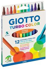 ФЛОМАСТЕРЫ GIOTTO TURBO СOLOR, 12 ЦВЕТОВ 071400