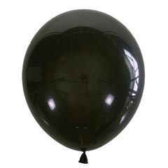 №131 Декоратор. Чёрный. С гелием. 30 см.