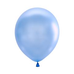 №053  Перламутр.  Голубой. С гелием. 30 см.