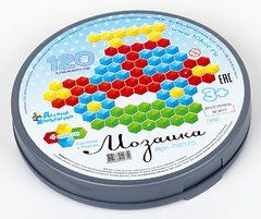 Мозаика шестигранная 120 эл (круглая пласт.коробка)