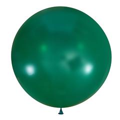 №16 Тиффани(бирюзовый) большой шар без рисунка (шёлк). Гелиевый, с обработкой 91 см.