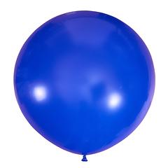 №20 Тёмно-синий большой шар без рисунка (шёлк). Гелиевый, с обработкой 91 см
