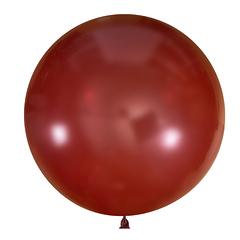 №11 Бургунди большой шар без рисунка (шёлк). Гелиевый, с обработкой 91 см.