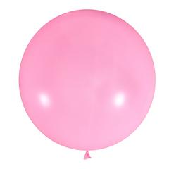 №08 Светло-розовый большой шар без рисунка (шёлк). Гелиевый, с обработкой 91 см.