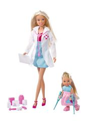 Кукла Штеффи-детский доктор + кукла Эви, 29 см и 12 см