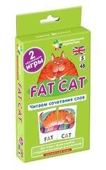 Английский язык. Толстый кот (Fat Cat). Читаем сочетания слов. Level 5. Набор карточек