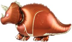 №142 Фигура с гелием. Динозавр Трицератопс. 100 см*60 см.