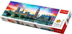 Пазл панорамный Биг Бен и Вестминстерский дворец, 500 элементов Трефл
