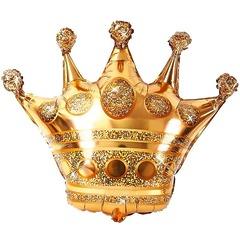 №00516 Фигура с гелием. Золотая корона. 70 см*30 см.
