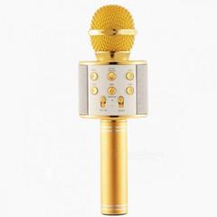 Беспроводной Bluetooth Караоке-микрофон WSTER WS-858 в коробке золотой