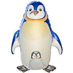 №281 Фигура с гелием. Пингвины. 90 см*55 см.
