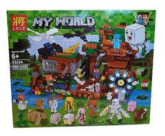 """Конструктор Майнкрафт Lele 33234 (Аналог Lego Minecraft) """"Загородный дом + 20 героев""""986 деталей"""