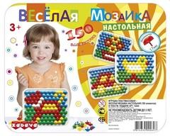 Веселая мозаика настольная (диаметр 17мм/150 элем.)