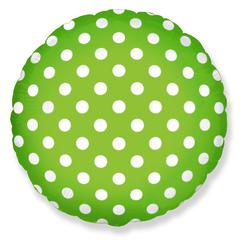 """№023 """"Горошек"""" Зелёный. С гелием. 45 см."""