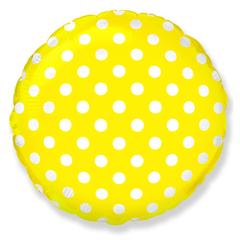 """№020 """"Горошек"""" Жёлтый. С гелием. 45 см."""