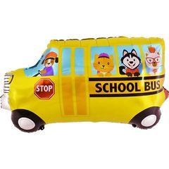 №197 Фигура с гелием. Школьный автобус. 85 см*48 см.