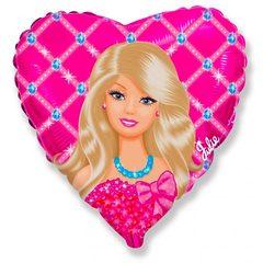 """№064 Фигура с гелием. Фольгированное сердце """"Кукла Julie"""" 45 см."""