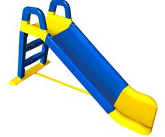 Детская горка сине-желтый