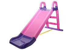 Детская горка розово-фиолетовая