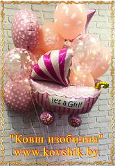 """№011  Композиция """"К рождению девочки"""""""