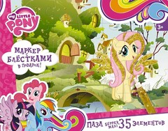 "Пазл-супер макси ""My Little Pony. Флаттершай"", 35 элементов, Оригами"