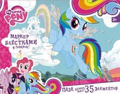 "Пазл-супер макси ""My Little Pony. Радуга Дэш"", 35 элементов, Оригами"