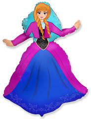 №086 Фигура с гелием. Принцесса Анна. 99 см*69 см.
