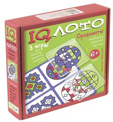 Пластиковое лото. Орнаменты. (6+) Комплект из трех игр