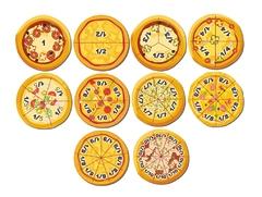 """Развивающая деревянная игра """"Дроби-пицца"""""""