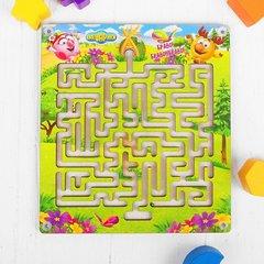 Развивающая деревянная игра Лабиринт с шариком «Лосяш хочет домой»