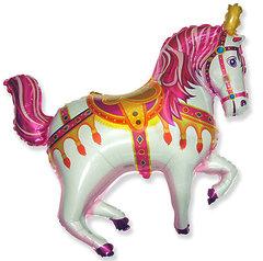 №069 Фигура с гелием. Лошадь цирковая. 98 см*90 см.