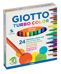 ФЛОМАСТЕРЫ GIOTTO TURBO СOLOR, 24 ЦВЕТА 417000