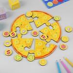 Пазл Пицца мясная развивающая деревянная игра IG0297