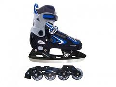 Коньки роликовые, раздвижные vimpex sport pw-223a-1 (синие) на пластиковой раме со съемным лезвием