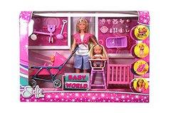 Кукла Штеффи с детьми, 29 см Steffi Love Baby World Doll