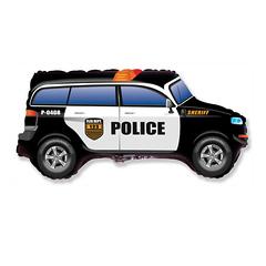 №181 Фигура с гелием. Джип полицейский. 85 см*48 см.