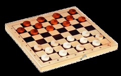 Шашки деревянные со 100 клетчатой доской ШК-15