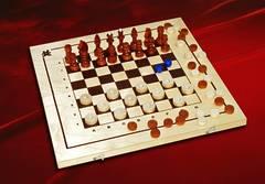 Шашки, шахматы, нарды 3 в 1  С-11/ШК-1 (410*210)