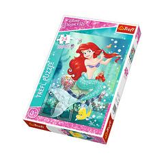 """Макси-пазл """"Принцессы Диснея"""" - Подводный салон красоты (24 элемента), Трефл"""