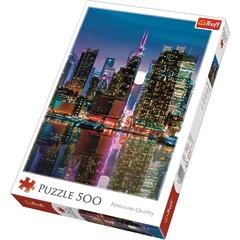 Пазл Premium Quality - Полнолуние над Манхэттеном (500 элементов), Трефл