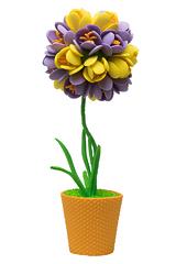 Набор для творчества Топиарий Крокусы фиолетовый/желтый