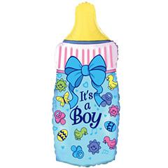 """№032 Фигура с гелием. Бутылочка """"Это мальчик"""". 88 см*43 см"""