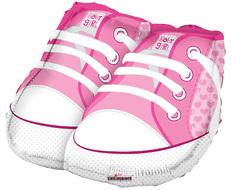 №026 Фигура с гелием. Ботиночки розовые. 45 см*50 см.