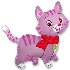 №042 Фигура с гелием. Кошечка розовая. 93 см*91 см.