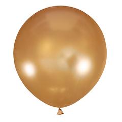 №32 Золотистый большой шар без рисунка (металлик). Гелиевый, с обработкой 91 см.