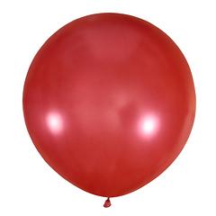 №34 Красный большой шар без рисунка (металлик). Гелиевый, с обработкой 91 см.