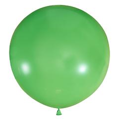 №14 Салатовый большой шар без рисунка (шёлк). Гелиевый, с обработкой 91 см.